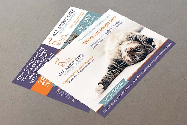 All About Cats Marketing Flyers