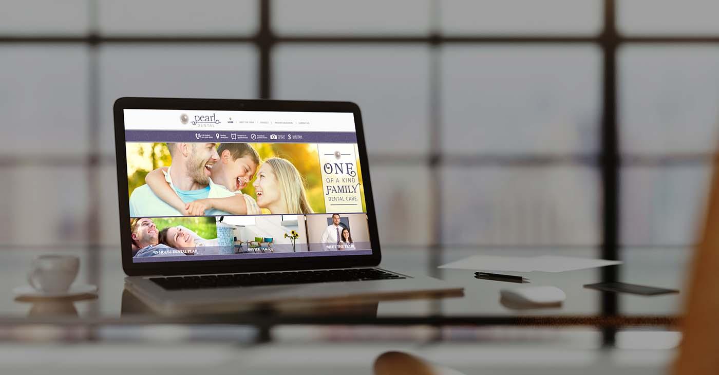 Pearl dental custom web development by Affordable Image