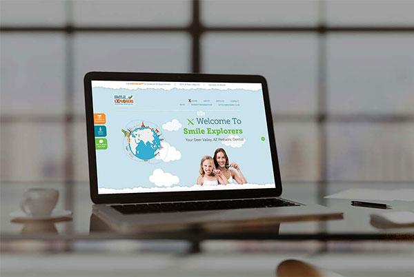 Smile Explorers Custom Web Design by Affordable Image