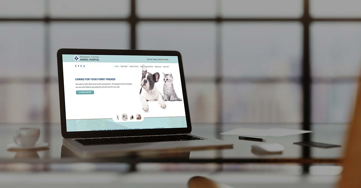 Newport Animal Hospital Web Design