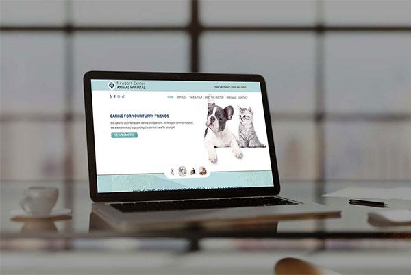 Newport Center Animal Hospital custom web design