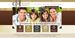 Heritage Dental custom web development by Affordable Image