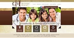 Heritage Dental custom web development by Affordable Image