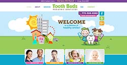 Tooth Buds Pediatric Dentistry custom web development