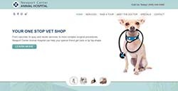 Newport Center Animal Hospital custom web development