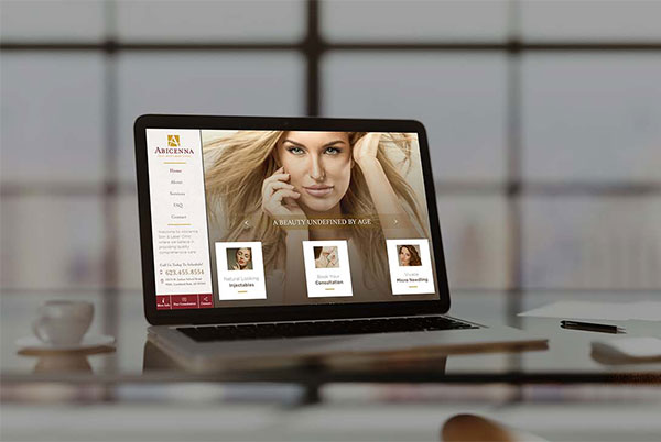 Abicenna Custom Website by Affordable Image