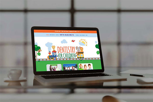 Dentistry for Children Custom Website